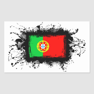 Portugal-Flagge Rechteckiger Aufkleber