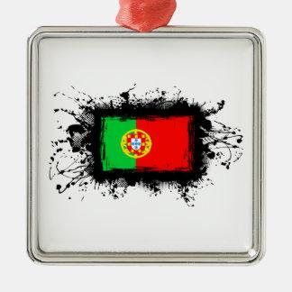 Portugal-Flagge Silbernes Ornament