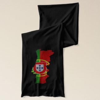 Portugal-Flagge und Karten-Stahlmetallloch Schal