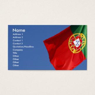 Portugal-Flagge Visitenkarte