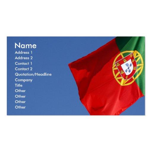 Portugal-Flagge Visitenkarten Vorlagen