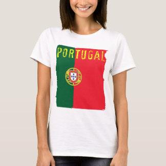 Portugal-Flaggen-Damen-Spitze T-Shirt