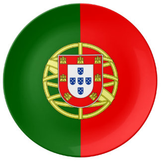 Portugal-Flaggen-Porzellan-Platte Teller Aus Porzellan