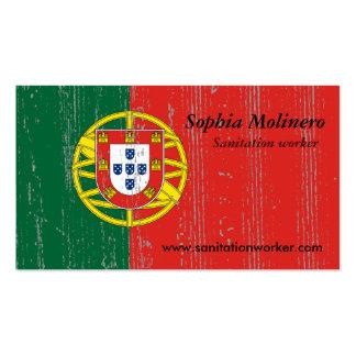Portugal-Flaggen-Visitenkarte