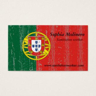 Portugal-Flaggen-Visitenkarte Visitenkarten