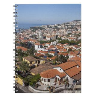 Portugal, Madeira-Insel, Funchal. Drahtseilbahn Spiral Notizblock