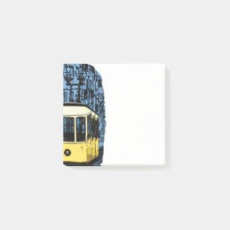 Portugal-Tram Post-it Klebezettel