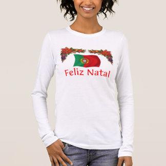 Portugal-Weihnachten Langarm T-Shirt