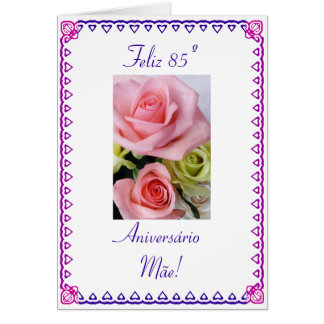 Der 85. Geburtstag Karte
