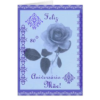 Portugiese: Alles- Gute zum Geburtstagmamma! Grußkarte