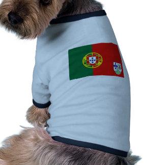 Portugiese Ostafrika Antrag Portugal Flagge Hundetshirt
