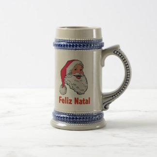 Portugiese Weihnachtsmann Bierglas