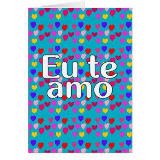 Portugiesisch - i-Liebe Sie Karte