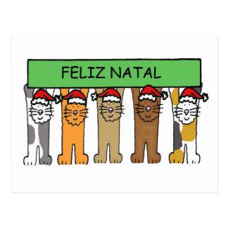 Portugiesische frohe Weihnachten Postkarte