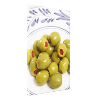 Portugiesische grüne Oliven Leinwanddruck