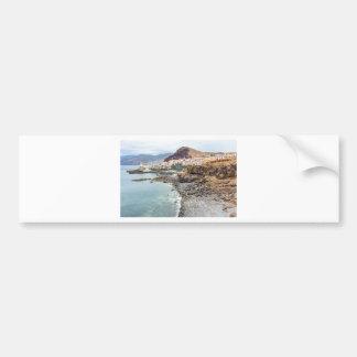 Portugiesische Küste mit Seestrand-Gebirgsdorf Autoaufkleber