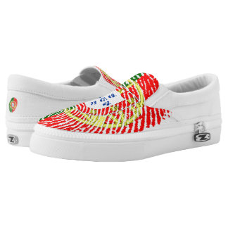 Portugiesische Touchfingerabdruckflagge Slip-On Sneaker