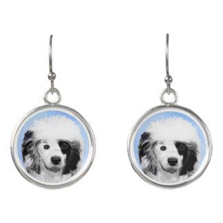 Portugiesische Wasser-Hundemalerei - ursprüngliche Ohrringe