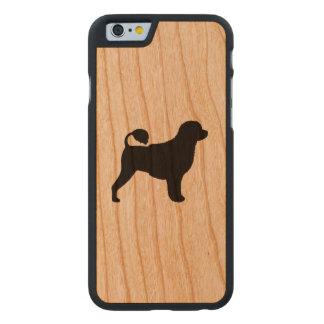 Portugiesische Wasser-HundeSilhouette Carved® iPhone 6 Hülle Kirsche