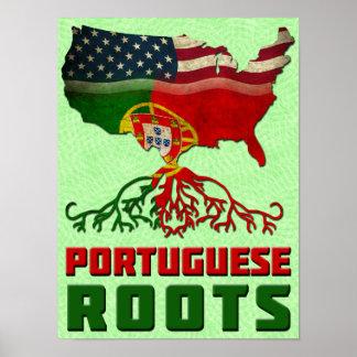 Portugiesischer Amerikaner-Wurzel-Plakat-Druck Poster