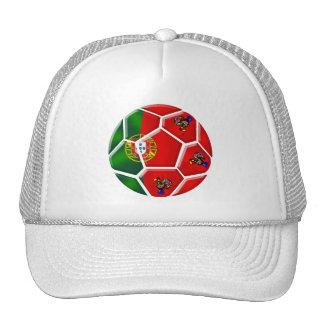 Portugiesischer Flaggenfußbalball für T-Shirts DAS Retrocap