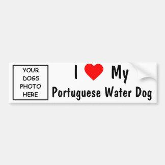 Portugiesischer Wasser-Hund Autoaufkleber
