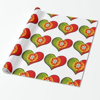 Portugiesisches Herz Geschenkpapier