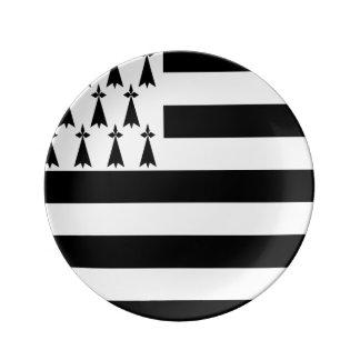 Porzellan-bretonische Flaggen-Party-Platte Teller Aus Porzellan