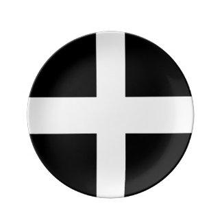 Porzellan-kornische Flaggen-Party-Platte Teller Aus Porzellan