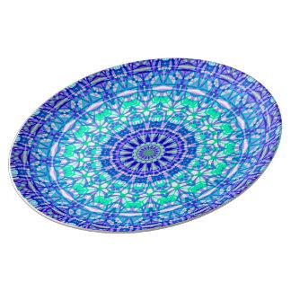 Porzellan-Platten-Stammes- Mandala G389 Porzellanteller