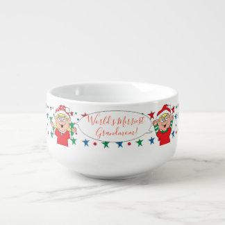 """Porzellan-Tasse personifizieren """"Weihnachtselfe """" Große Suppentasse"""