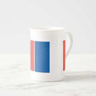 Porzellantasse Frankreich Fahne