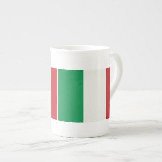 Porzellantasse Italien Fahne