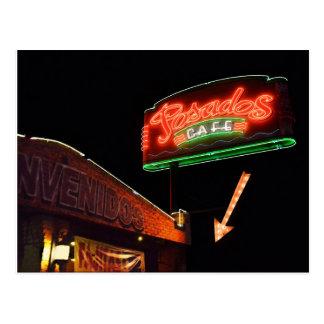 Posados Café-Leuchtreklame Postkarte