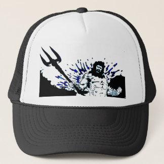 Poseidon! Dunkles Schwarzes und Blau Truckerkappe