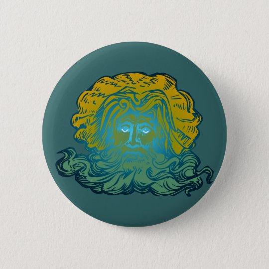 Poseidon Neptun Runder Button 5,1 Cm