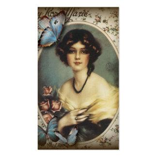 Posh Vintage Schmetterlings-Paris-Dame Fashion Visitenkarten