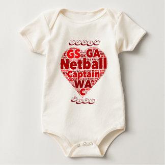 Positions-Herz-EntwurfNetball Baby Strampler