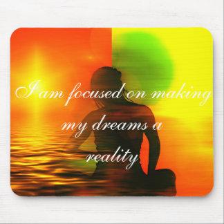 Positive Bestätigungsmotivation über Träume Mauspads