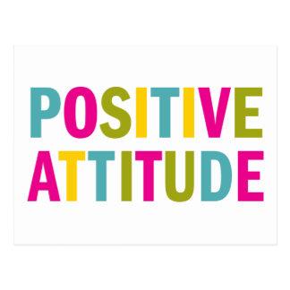 Positive Haltung in den hellen Farben Postkarte