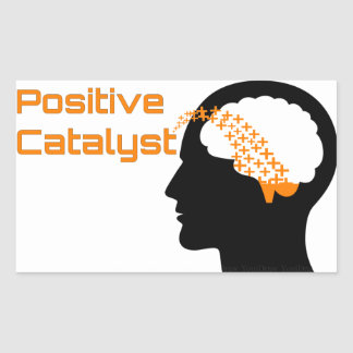 Positive Katalysator-Quadrat-Aufkleber Rechteckiger Aufkleber