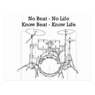 Positive Mitteilung für Schlagzeuger, Musiker, Postkarte