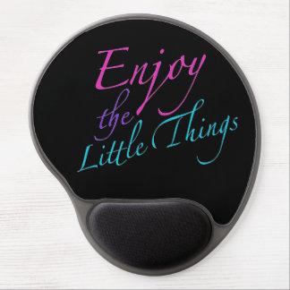 Positive Wörter genießen Leben-Zitat Gel Mousepad