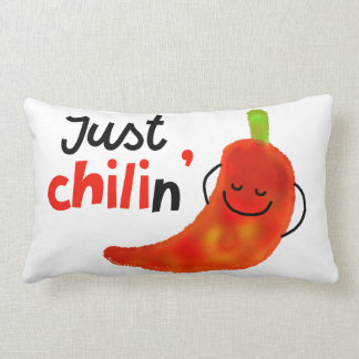 Positives Chili-Pfeffer-Wortspiel - gerade Chilin Lendenkissen