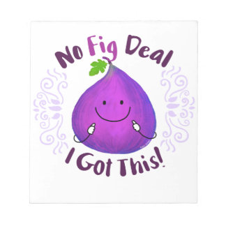 Positives Feigen-Wortspiel - kein Feigen-Abkommen Notizblock