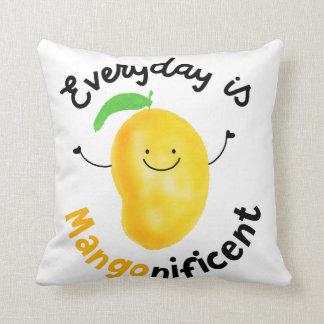 Positives tägliches Mango-Wortspiel - ist Kissen