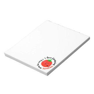 Positives Tomate-Wortspiel - von meinen Notizblock