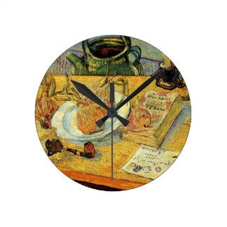 Post-Impressionismus-noch Leben-Kunst Van Gogh Runde Wanduhr