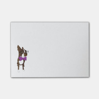 Post-Itanmerkung Bostons Terrier Post-it Klebezettel