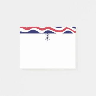 Post-Itanmerkungs-Seeboots-Liebhaber Post-it Klebezettel